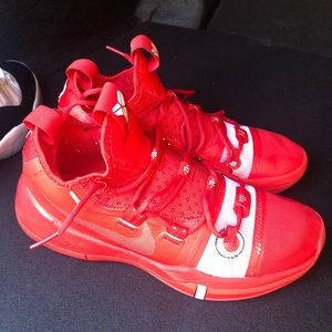 Red Kobe shoes.